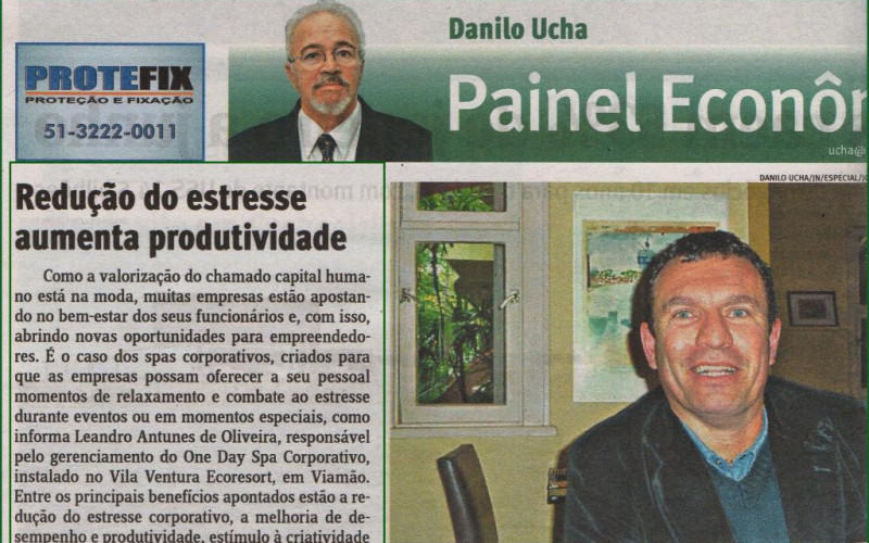 Jornal do Comércio. Agosto de 2015. Cliente: One Day Spa - Corporativo