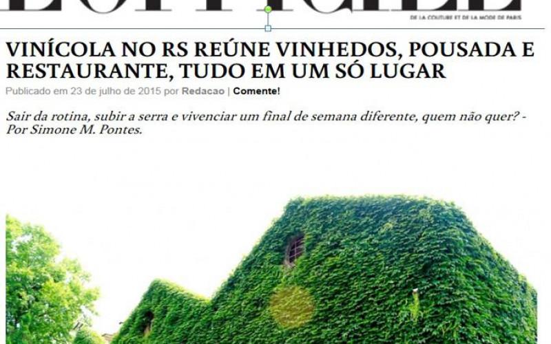 Revista L'Oficiel Brasil, agosto de 2015. Cliente: Vinícola Don Giovanni
