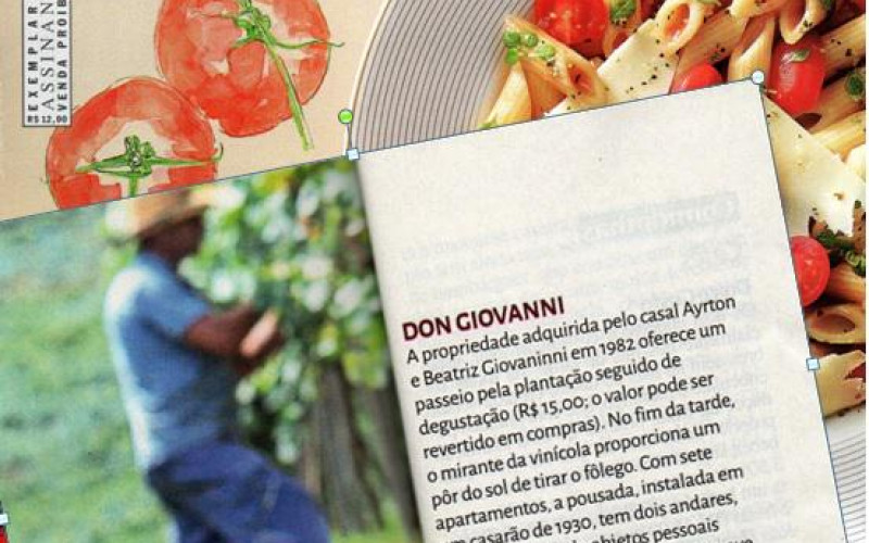 Revista Veja Comer & Beber 2015. Caderno Serra Gaúcha. Cliente: vinícola Don Giovanni
