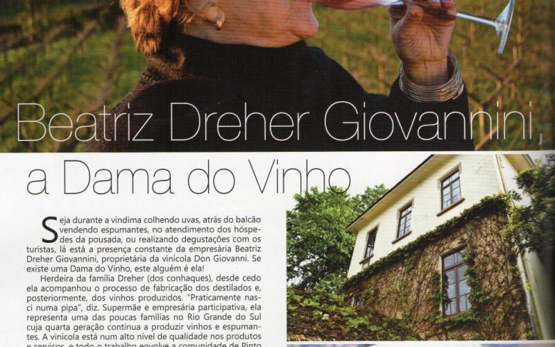 Revista We, abril de 2015. Cliente Vinícola Don Giovanni