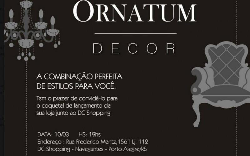 Ornatum Decor inaugura sua primeira loja de móveis e decoração em Porto Alegre no DC Shopping