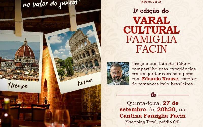 Projeto Varal Cultural Famiglia Facin homenageia a Itália
