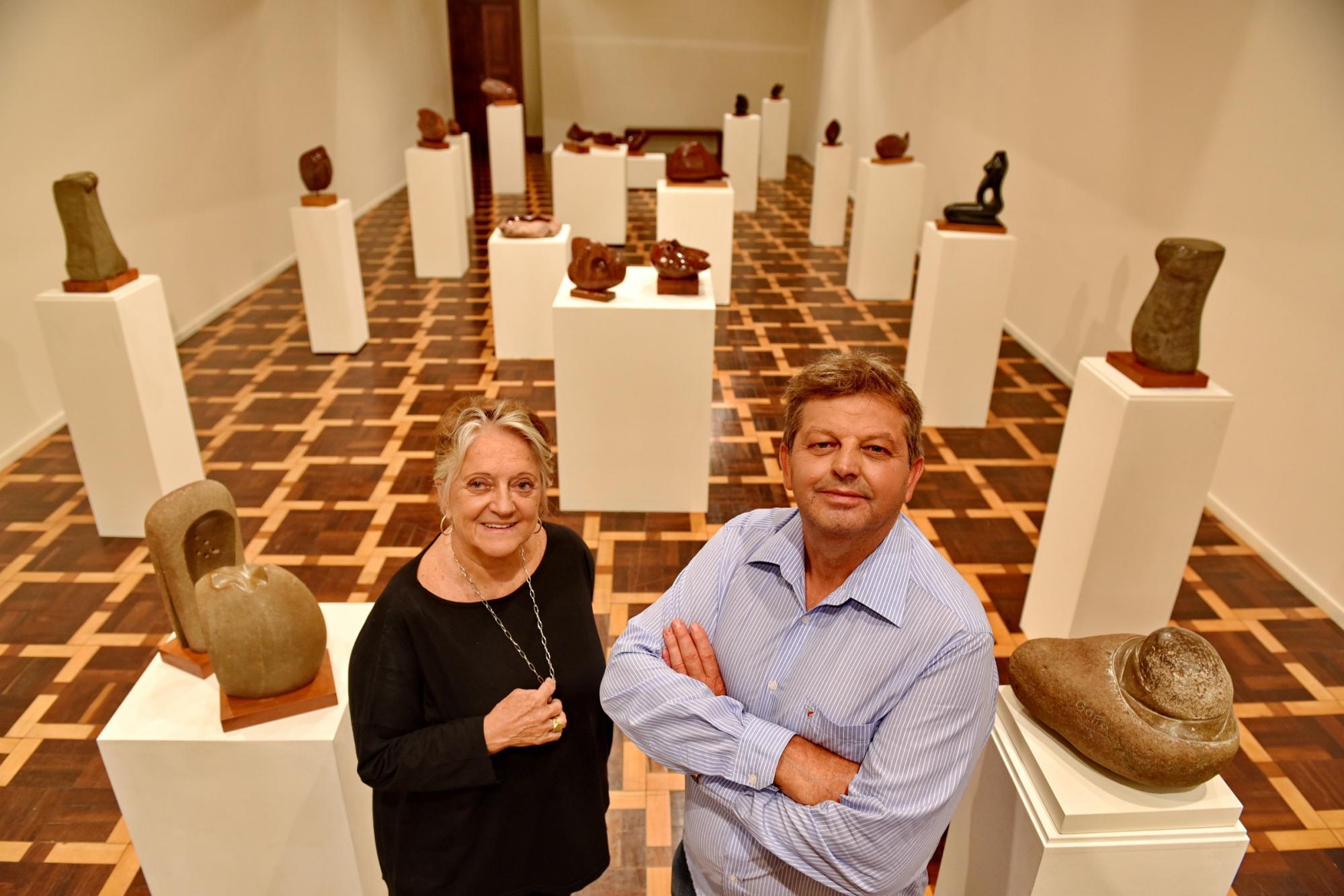 Esculturas em Basalto no Margs até dia 12 de março com a exposição Gotto Águas de Pedra